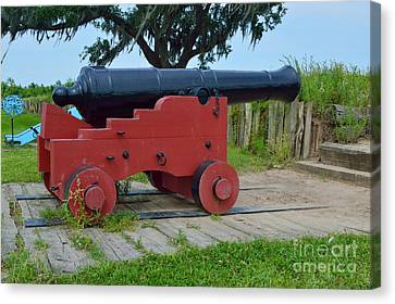 Silent Cannon Canvas Print by Alys Caviness-Gober