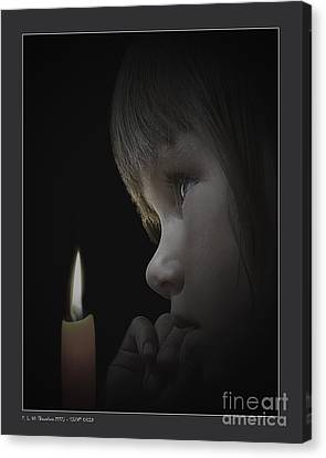 Silent Child Canvas Print by Pedro L Gili