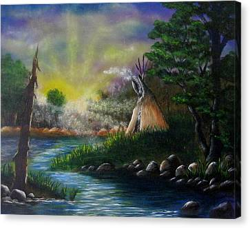 Silent Dawn Canvas Print by Valorie Cross