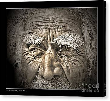 Silent Eyes Canvas Print by Pedro L Gili