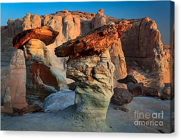 Silent Figures Canvas Print by Inge Johnsson