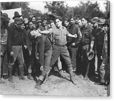 Silent Film Fighting Canvas Print by Underwood Archives
