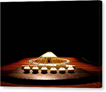 Canvas Print featuring the photograph Silent Guitar by Greg Simmons