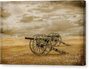 Silent Guns At Gettysburg Canvas Print by Randy Steele