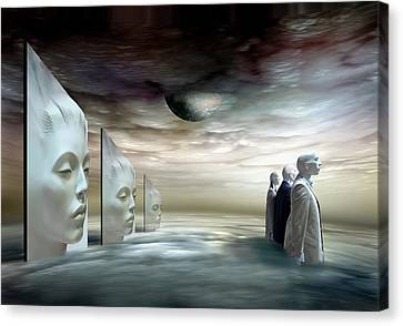 Doll Canvas Print - Silent Heights by Ben Goossens