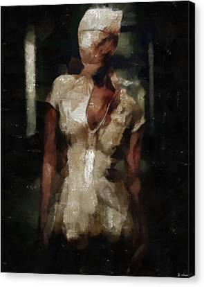 Silent Hill Nurse Canvas Print by Joe Misrasi