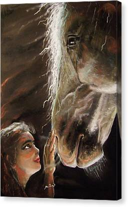 Silent Love Canvas Print