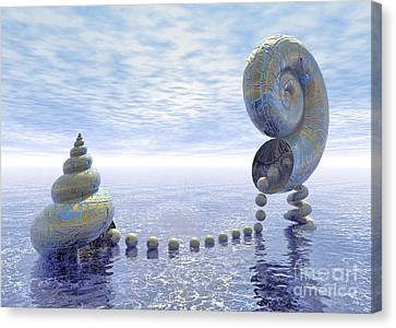 Silent Love - Surrealism Canvas Print by Sipo Liimatainen