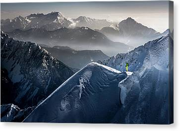 Silent Moments Before Descent Canvas Print