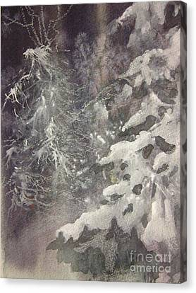 Canvas Print featuring the painting Silent Night by Elizabeth Carr