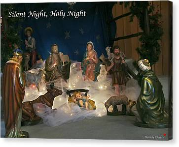 Silent Night Holy Night Canvas Print by Rhonda McDougall