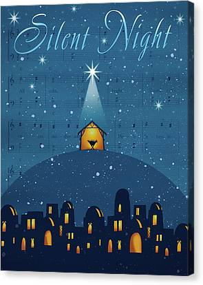 Silent Night Canvas Print by P.s. Art Studios