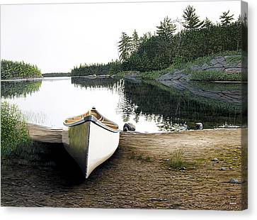 Silent Retreat Canvas Print by Kenneth M  Kirsch