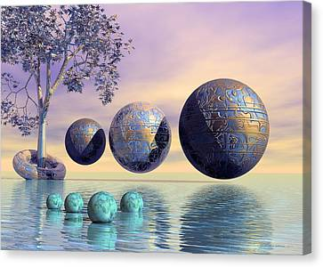 Expressionism Digital Art Canvas Print - Silent Seven - Surrealism by Sipo Liimatainen