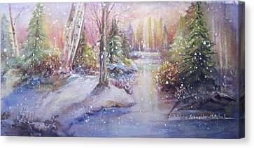Silent Snowfall Canvas Print by Patricia Schneider Mitchell