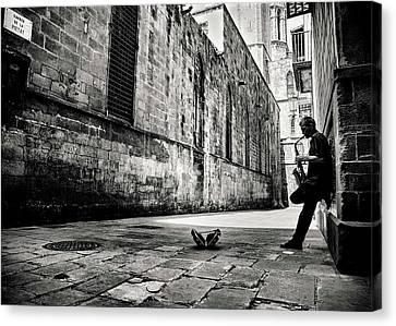 Workers Canvas Print - Silent Street by Gertjan Van Geerenstein