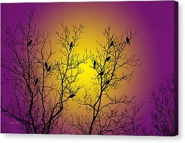 Silhouette Birds Canvas Print
