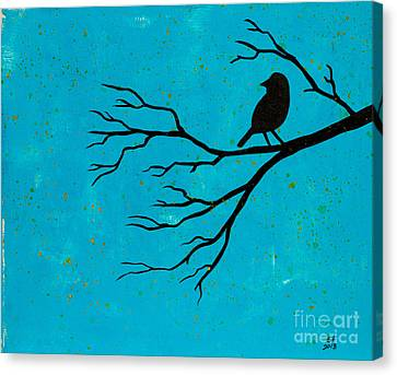 Silhouette Blue Canvas Print
