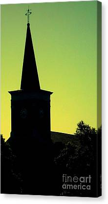 Silhouette Church Canvas Print by JoNeL Art