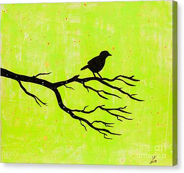 Silhouette Green Canvas Print
