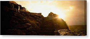 Silhouette Of A Cave At Sunset, Ailwee Canvas Print by Panoramic Images