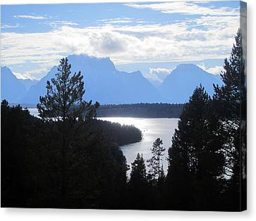 Silhouette Peaks Canvas Print by Mike Podhorzer
