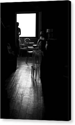 Silhouette  - Searching For The Meaning Of Life Canvas Print by David Letts
