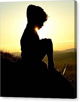 Silhouetted Child Canvas Print