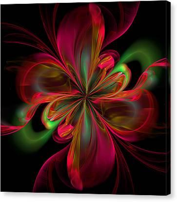 Algorithm Canvas Print - Silk Butterfly Abstract by Georgiana Romanovna