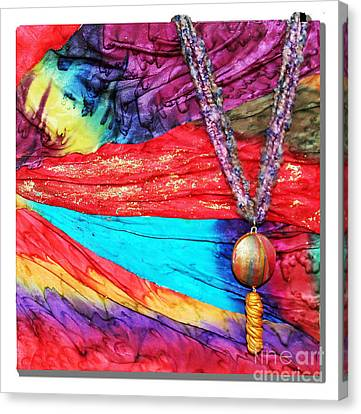 Silk Canvas With Necklace Canvas Print