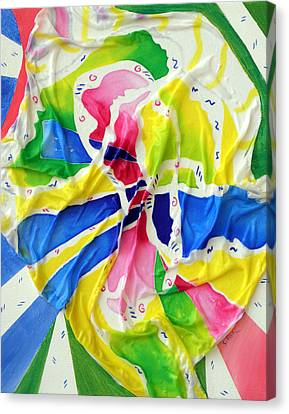 Silk Color Whirl Canvas Print by Sandra Fox
