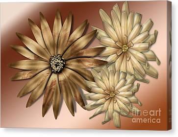 Digital Installation Art Canvas Print - Silk Flowers by Tina M Wenger