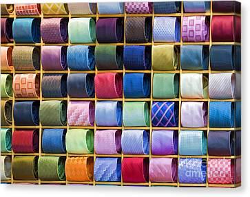Silk Neckties Canvas Print by Sheldon Kralstein