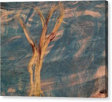Canvas Print featuring the digital art Silk Trees by Aliceann Carlton