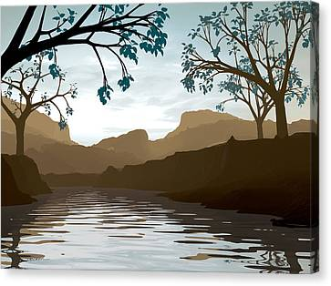 Silkscreen Canvas Print by Cynthia Decker
