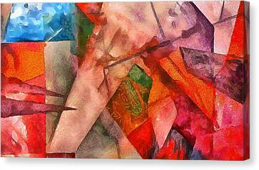 Canvas Print featuring the digital art Silky Abstract by Catherine Lott
