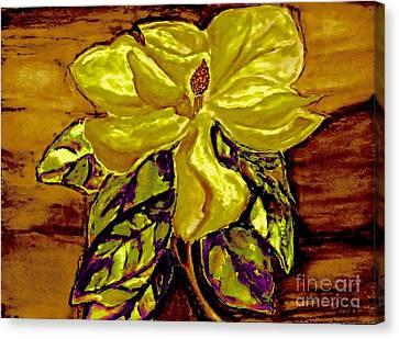 Silky Magnolia Canvas Print by Marsha Heiken