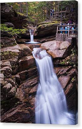 Silky Sabbaday Falls Canvas Print by Karen Stephenson