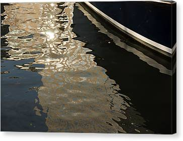 Silky Swirls And Zigzags - A Waterfront Abstract Canvas Print
