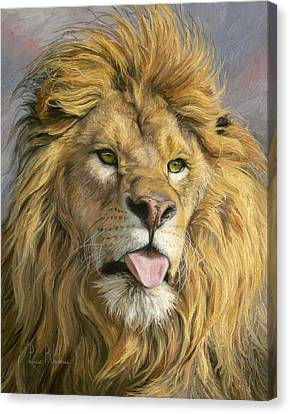 Silly Face Canvas Print by Lucie Bilodeau