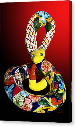 Silly Snake Canvas Print by Phyllis Denton