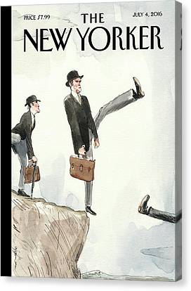Scotland Canvas Print - Silly Walk Off A Cliff by Barry Blitt