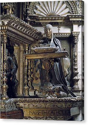 Silo�, Diego De 1495-1563. Isabella I Canvas Print