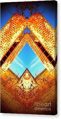 Canvas Print featuring the photograph Silo Pyramid by Karen Newell