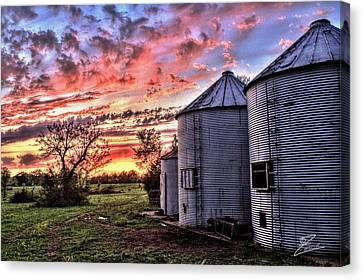 Silo Sunset Canvas Print