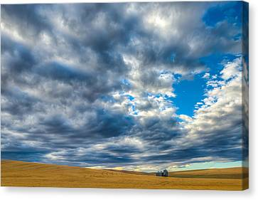 Silo Under Big Palouse Sky Canvas Print