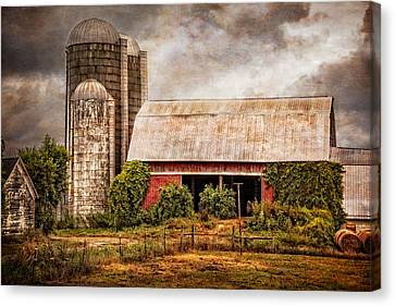 Western Kentucky Canvas Print - Silos And Barns by Debra and Dave Vanderlaan