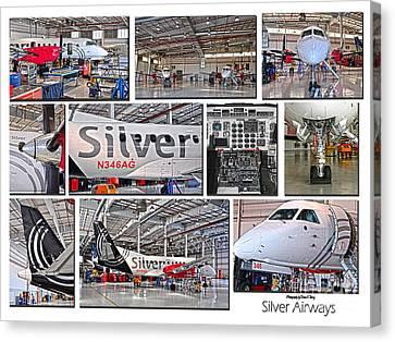 Silver Airways Large Composite Canvas Print