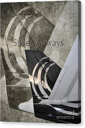 Silver Airways Tail Logo Canvas Print by Diane E Berry