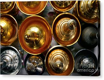 Silver And Gold Oil Lamps Canvas Print by Dean Harte